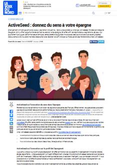 ActiveSeed : donnez du sens à votre épargne  LA VOIX DU NORD