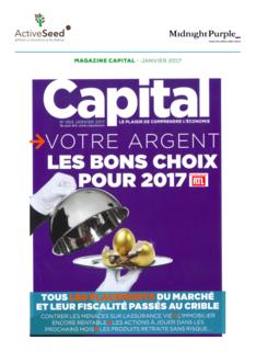 Capital • Janvier 2017